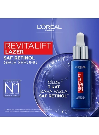L'Oréal Paris L'Oréal Paris Revitalift Lazer Saf Retinol Gece Serumu Renksiz